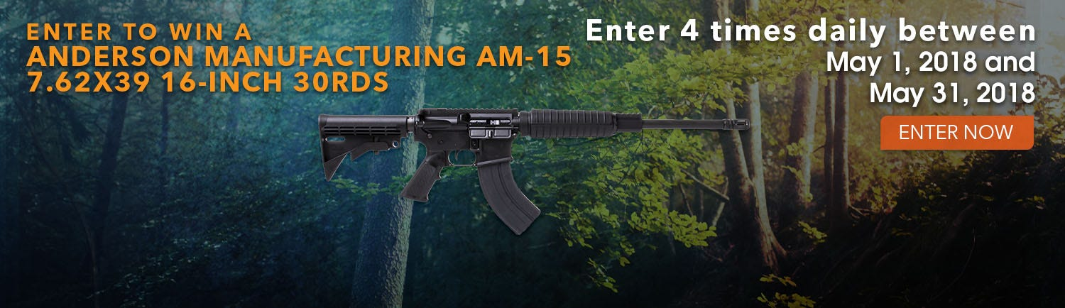 GrabAGun Monthly Giveaway - Win an Anderson AM-15 Rifle