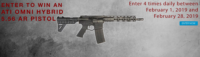 GrabAGun Monthly Giveaway - Win an ATI Omni Hybrid AR Pistol