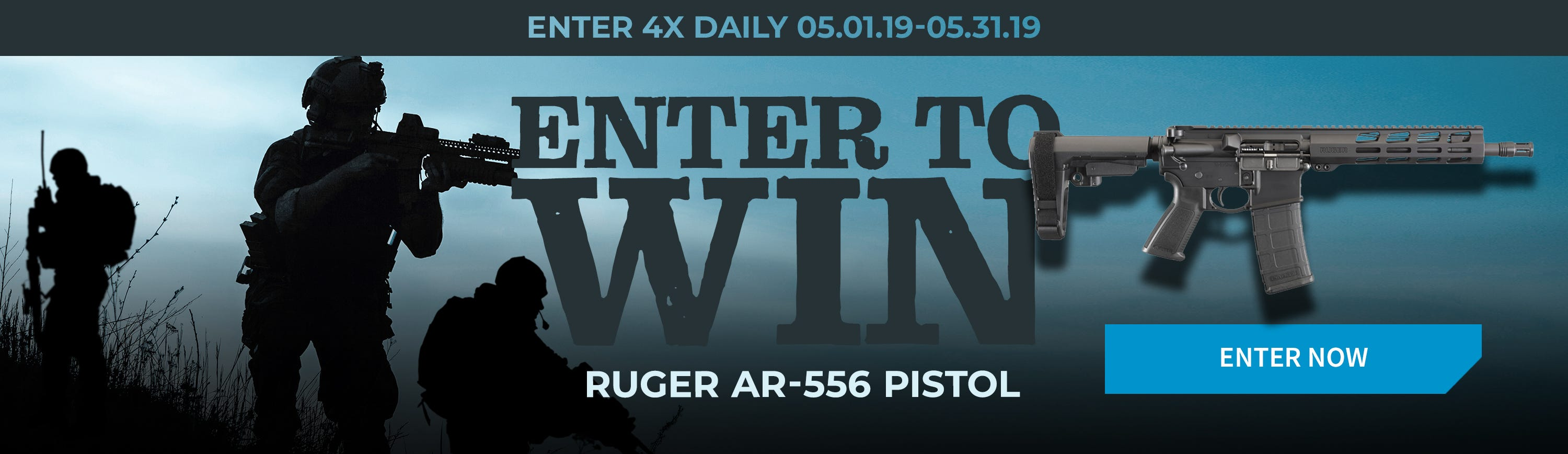 GrabAGun Monthly Giveaway - Win a Ruger AR-556 Pistol