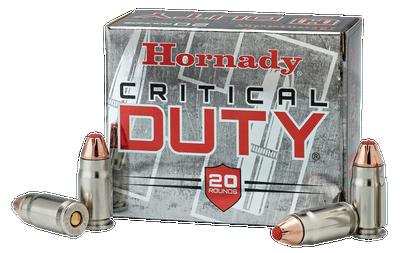 Hornady Critical Duty Handgun Ammo Nickel 9mm 25-Rounds 135 Grain FlexLock