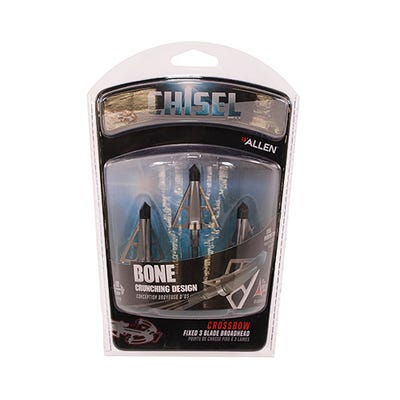 Allen 14694 Chisel Point FS Bone Crunching 100 Grain 3 Pack