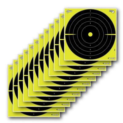 "Allen EZ Aim Splash Bullseye Paper Target 12""x12"" 12-Pack Black / Yellow"
