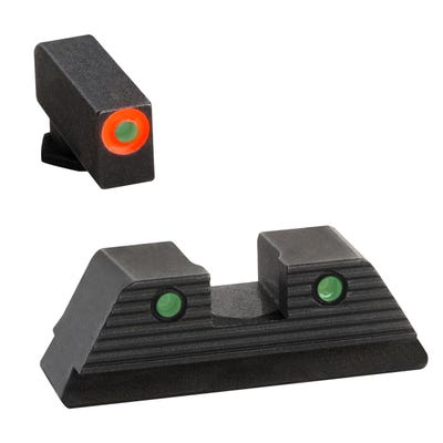 AmeriGlo Glock Trooper Set Orange Front Green Rear