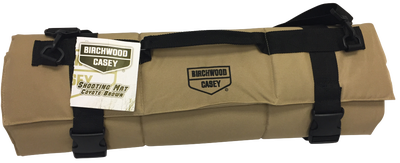 """Birchwood Casey Shooting Mat Coyote Brown 1/2"""" Thickness 84"""" x 27"""""""