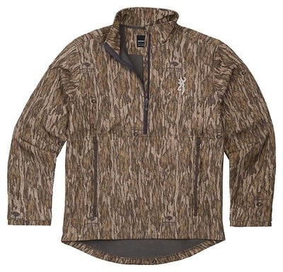 Browning Wicked Wings Smoothbore Jacket Mossy Oak Bottomlands Large 1/4 Zip