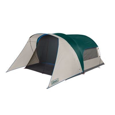 Coleman 6 Person Cabin Tent with Screened Porch Evergreen