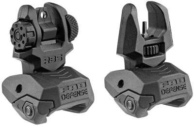 Fab Defense Front/Rear Flip Up Sights AR-15, M4, M16 Folding Style