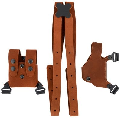 Galco Classic Lite 2.0 Shoulder Holster Brown for Glock 43 & Springfield Hellcat