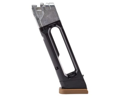 Glock 19X Gen 5 Drop-Free Air Gun Magazine Black / Tan .177 18-Rounds