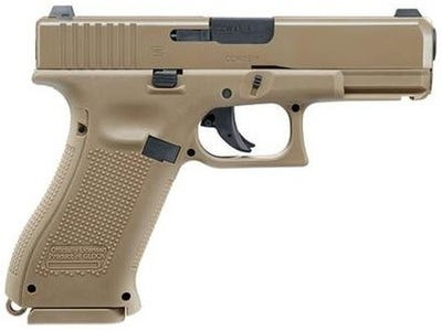 "Glock G19X Blowback Air Pistol Flat Dark Earth .177 3.4"" Barrel 18-Rounds"