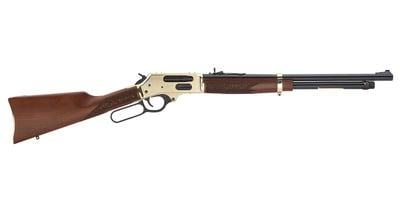 """Henry Repeating Arms Side Gate Lever Action Rifle Walnut / Brass .45-70 20"""" 5 RD"""