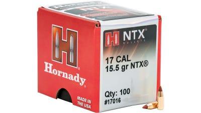 Hornady Varmint Bullets 17CAL 15.5 Gr NTX 100 RDs