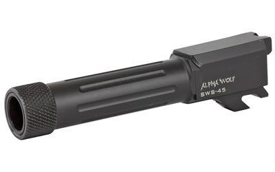 "Lone Wolf AlphaWolf Threaded/Fluted Barrel for S&W M&P Shield .45 ACP 3.9"" Barrel"