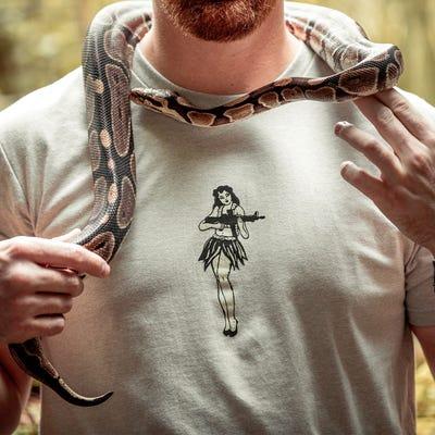 Magpul Hula Girl Men's Short Sleeve T-Shirt X-Large Stone Grey