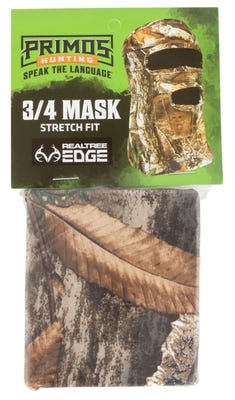 Primos Game Calls Stretch Fit 3/4 Mask Realtree Edge