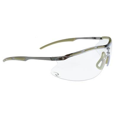 Radians Bravo Ballistic Rated Metal Half Frame Shooting Glasses Clear Lens