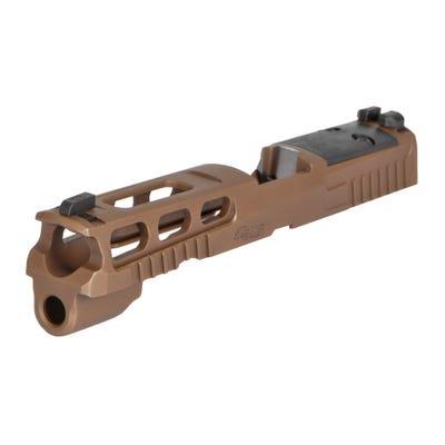 "Sig Sauer P320 PRO-CUT Slide Assembly Coyote Brown 9mm 4.7"" Barrel R2 Optics Ready"