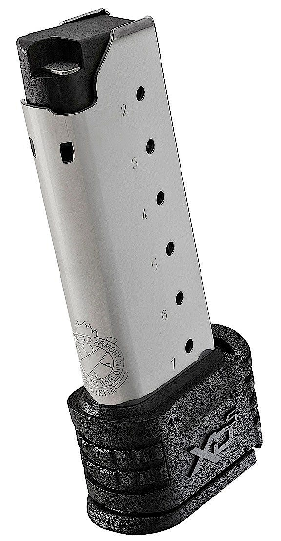 XDS5006 for sale online Springfield Armory XD-S .45 ACP 6 Rounds Mid Sleeve Stainless Steel Magazine