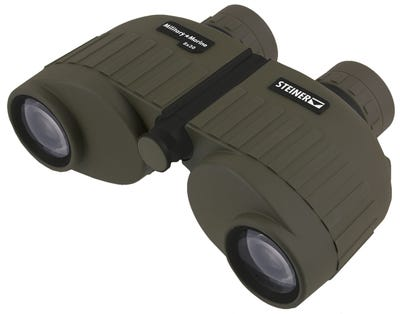Steiner Military-Marine Binoculars Green Rubber Armor 8X30