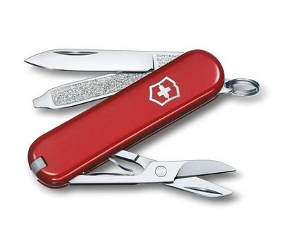 Swiss Army Classic SD Printed Red