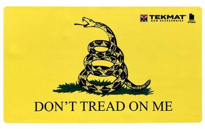 """TekMat Door Mat """"Don't Tread On Me"""" 25"""" x 42"""" Yellow"""