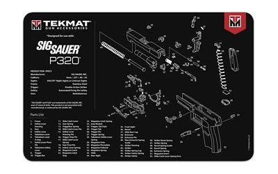 """TekMat Original Cleaning Mat 11x17"""" with Sig P320 Diagram"""