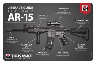 "TekMat Original Cleaning Mat 11x17"" with AR-15 Guide Diagram"