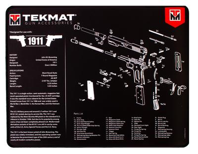 TekMat Ultra Premium Mat 1911 Parts Diagram