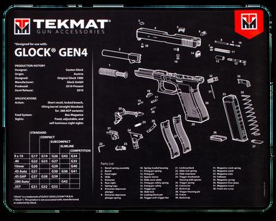 TekMat Ultra20 Premium Cleaning Mat Glock Gen4 Parts Diagram