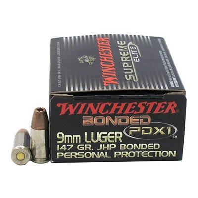 Winchester Supreme ELT 9mm 147GR PDX1 20rds