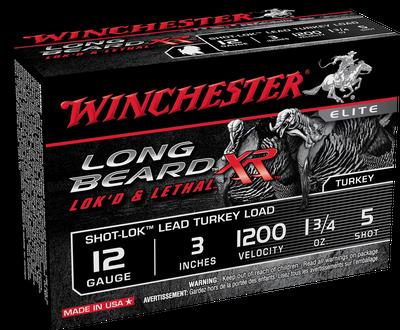 "Winchester Long Beard XR Shot-Lok 12 GA #5-Shot 10-Rounds 3"""