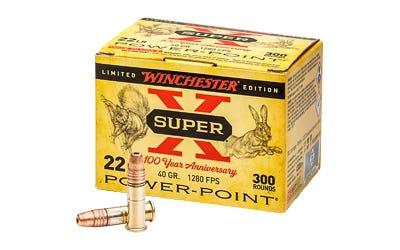 Winchester Super-X 100th Anniversary Brass .22 LR 40 Gr 300-Rounds Power Point