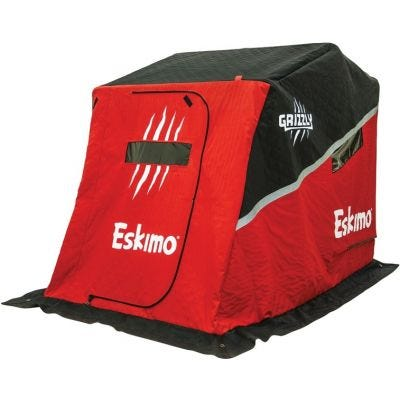 Eskimo Grizzly Flip Shelter Red Fully Insulated