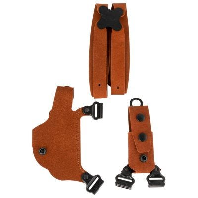 Galco Classic Lite Shoulder System for Glock 43, 43x, 48 / Springfield Hellcat Natural Leather
