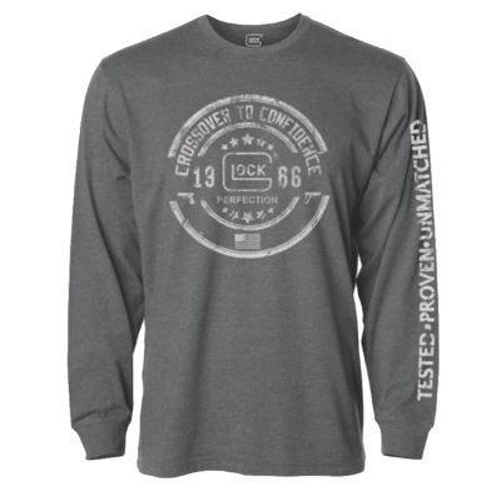 Glock Crossover Long Sleeve T-Shirt Gray Extra Large