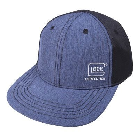 Glock Pro-Curve Hat Black / Navy Blue Cotton / Mesh Velcro