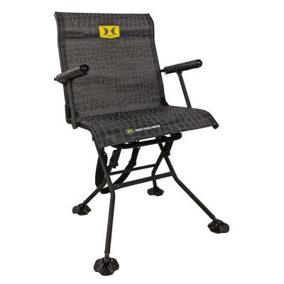 Hawk Hunting Stealth Spin Steel Chair Camo