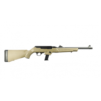 """Ruger PC Carbine Flat Dark Earth 9mm 16.12"""" Barrel 17-Rounds Threaded"""