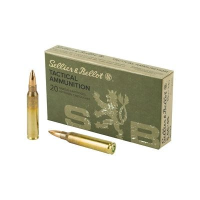 Sellier and Bellot Tactical 5.56 NATO 55 Grain 20-Rounds FMJ