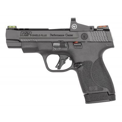 "Smith and Wesson M&P9 Shield Plus Performance Center 9mm 4"" Ported Barrel 13-Rounds Crimson Trace Laser"