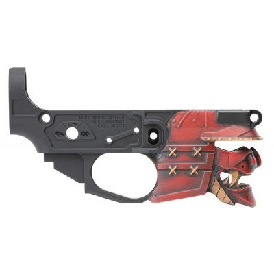 Spikes Tactical Rare Breed Samurai Red / Black Lower Receiver
