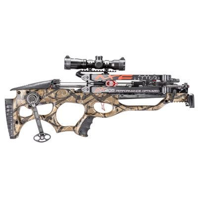 FeraDyne Outdoors AX405 Crossbow Camo with Multi-Range Scope