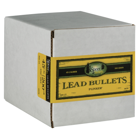 Speer Lead Bullets .45 Caliber 200-Grain 500-Bullets LSWC