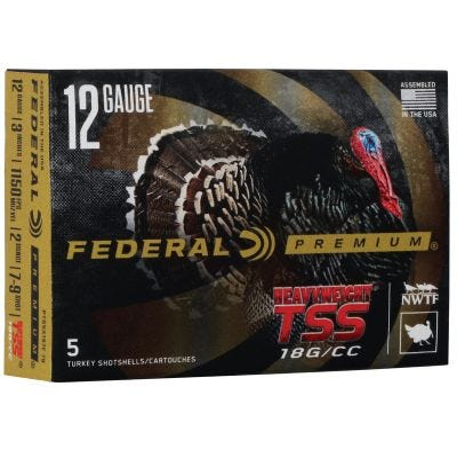 "Federal Premium Heavyweight TSS 12 GA #7&#9-Shot 5-Rounds 3"""