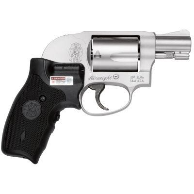 """Smith and Wesson 638 Bodyguard Airweight Stainless .38 SPL 1.88"""" Barrel 5-Rounds Crimson Trace Lasergrip"""