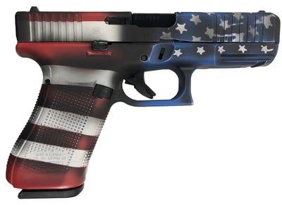 """Glock 45 Battleworn Flag 9mm 4.02"""" Barrel 17-Rounds"""