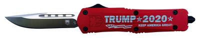 """CobraTec Knives FS-3 """"Trump 2020"""" OTF Knife - 3"""" Plain Drop Point Blade"""
