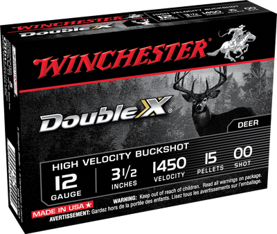 "Winchester Double X High Velocity 12 GA 00 Buck 5-Rounds 3.5"""
