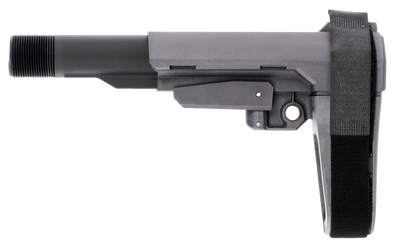 SB Tactical SBA3 Gray with Mil-Spec Carbine Receiver Extension