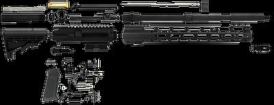 "TacFire Unassembled Rifle Kit 5.56 NATO / .223 Rem 16"" Barrel"